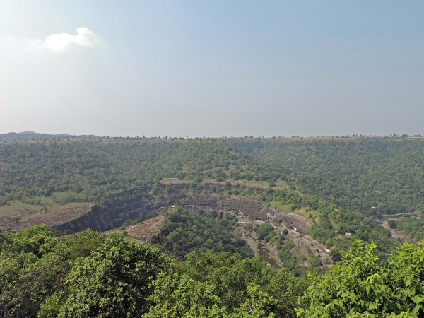 Ajanta Caves from the Viewpoint.