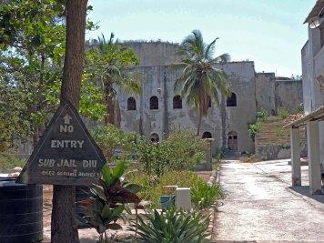 Diu Jail inside the fort