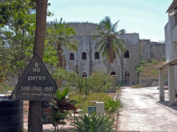 Diu Jail inside the fort