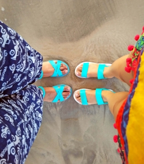 Twinning at Nagoa Beach