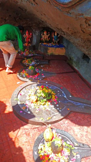 A devotee at the temple