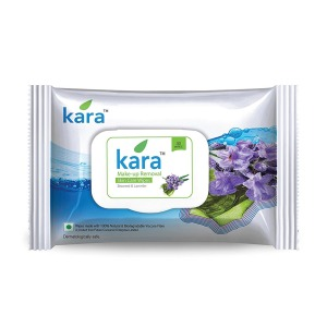 Kara Face Wipes, Seaweed and Lavender, 30 Pulls
