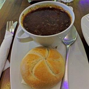 Warm Goulash with Bun