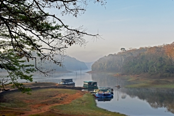 Early morning at the Periyar Lake