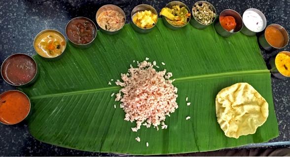Traditional Kerala Thali - Sadhya